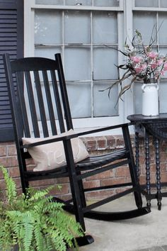 Painted Rocking Chairs provide lovely form and function to your front porch! Diy Furniture Projects, Unique Furniture, Furniture Makeover, Industrial Furniture, Furniture Plans, Diy Projects, Painted Rocking Chairs, Outdoor Rocking Chairs, Adirondack Chairs