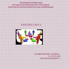UNIVERSIDAD FERMIN TORO DECANATO DE INVESTIGACION Y POSTGRAB É) ESPECIALIZACIÓN EN GERENCIA LEGAL EMPRESARIAL ABJÁLISIS CASO 2 ALUBINOi NAYCAR T. QUERO O. 6. http://slidehot.com/resources/caso-2-naycar.16874/