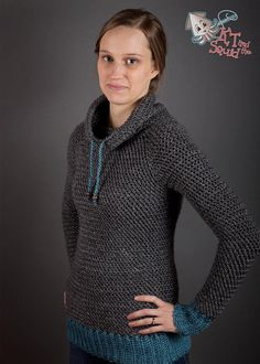 Crochet Sweater pattern Women plus size top down di ktandthesquid