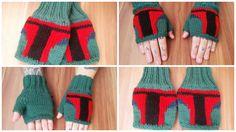 Knitted fingerless gloves Boba Fett #handmake #handmade #StarWars #BobaFett #mittens #БобаФетт #ЗвездныеВойны #подарок #гикатрибутика #ручнаяработа #митенки