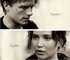 Together. One of the best scenes of the movie. Josh totally stole the cene, it was perfect
