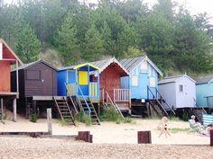 Beach Huts  Great Yarmouth  East Anglia 2 by KarenLawsonArt, $25.00