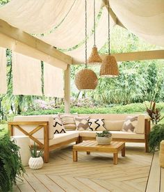 This 1 light outdoor pendant from the Palisades collection features an Olde Bronze finish and Natural Wicker style bell shade that draws inspiration from boho-chic styles, for a casual, laid-back look that spices up patios, porches, gazebos and more. Patio Pergola, Backyard Patio, Pavers Patio, Beach Patio, Cozy Patio, Ideas Terraza, Gazebos, Outdoor Lighting, Outdoor Decor