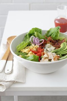 num-num salad, cobb salad и salad Salad Recipes For Parties, Salad Recipes Healthy Lunch, Salad Recipes Video, Salad Recipes For Dinner, Fruit Salad Recipes, Dinner Salads, Easy Salads, Cobb Salad, Kale