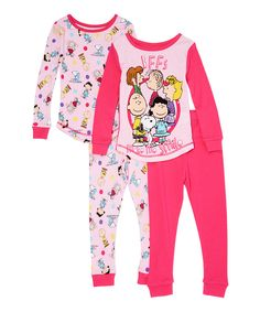 This Pink Peanuts 'BFF' Top & Bottom Set - Toddler & Girls by Komar Kids is perfect! #zulilyfinds