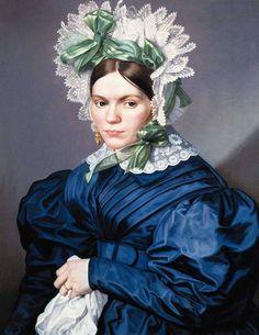 """Antonin Machek: """"Retrato de dama vestida de azul"""", 1836"""