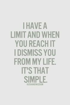 I have a limit....