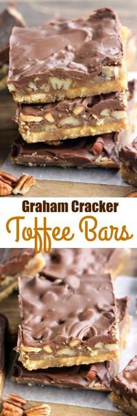Graham Cracker Toffee Bars on MyRecipeMagic.com Easy and delicious toffee bars made with just 5 ingredients!