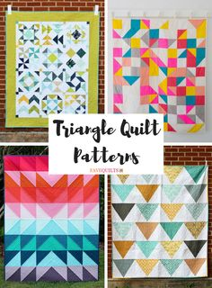 If you love triangle quilt patterns, then you'll love this free quilt pattern collection! Here, we have rounded up 40 triangle quilt tutorials that you'll love! Triangle Quilt Tutorials, Triangle Quilt Pattern, Half Square Triangle Quilts, Quilting Tutorials, Quilting Ideas, Star Quilts, Easy Quilts, Quilt Blocks, Modern Quilt Patterns