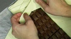 čokoláda v listovém těstě