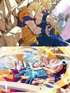 Goku vs Majin Vegeta, vs Majin Vegeta Dragon Ball is a Japanese manga series written and illustrated by Akira Toriyama. Originally serialized in Weekly Shōnen Jump mag. Dragon Ball Z, Dragon Ball Image, Goku E Vegeta, Goku Vs Frieza, Manga Anime, Anime Artwork, Akira, Pokemon, Deviantart