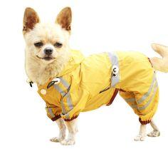 Yellow X-Small FouFou Dog Rainy Day Poncho