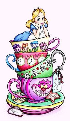 Alice in Wonderland Fairy Tale 373 Modern Cross Stitch Pattern Counted Cross Stitch Chart Pdf Format Instant Download
