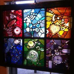 Glass on glass mosaic by Bren Mason