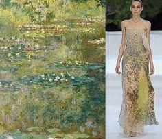 Dans les Années 80-90, Yves Saint Laurent Rendra Hommage à Plusieurs Peintres comme Monet