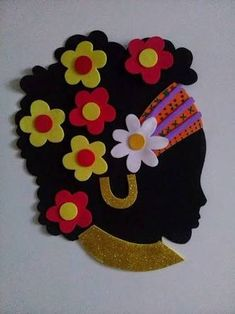 Best 12 Gallery – Here is my finished African Lady Portrait made with my design which I will frame soon. Diy Quilling Crafts, Felt Crafts, Diy And Crafts, Crafts For Kids, Arts And Crafts, Paper Crafts, Black Girl Art, Black Women Art, Art Projects