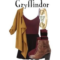 A fashion look from December 2015 by fabfandoms featuring Glamorous, Chicnova Fashion, H&M, Charlotte Russe and BaubleBar Harry Potter Mode, Estilo Harry Potter, Harry Potter Style, Harry Potter Outfits, Harry Potter Fashion, Cool Outfits, Casual Outfits, Fashion Outfits, Fashion Weeks