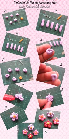 Cute Flower Polymer Clay Tutorial