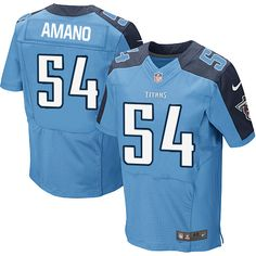 ... Men Nike Tennessee Titans 54 Eugene Amano Elite Light Blue Team Color  NFL Jersey Sale ... 372732701