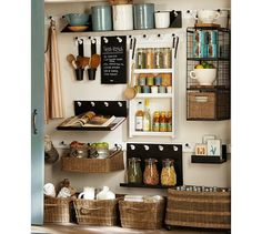 Shop Pottery Barn for stylish office storage solutions. Find home office organization inspiration and office furniture and create a productive work space at home. Kitchen Pantry, Kitchen Storage, Kitchen Decor, Barn Kitchen, Kitchen Racks, Organized Kitchen, Eclectic Kitchen, Laundry Storage, Diy Kitchen