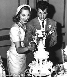 Janet Leigh & Tony Curtis ~ married  1951 to 1962, two daughters, divorced.  Parents of Jamie Lee Curtis.