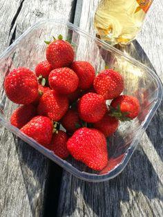 Strawberries in the sun