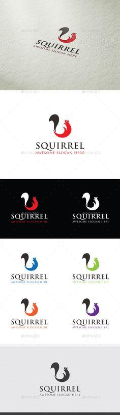 Squirrel  Logo Design Template Vector #logotype Download it here: http://graphicriver.net/item/squirrel-logo/9592062?s_rank=1041?ref=nesto