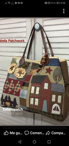 Japanese Bag, Bag Pattern Free, Patchwork Bags, Coat Patterns, Paper Piecing, Fabric Crafts, Louis Vuitton Damier, Purses And Bags, Applique