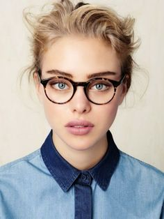 Brushed up brows look super cool when paired when rounded frames. For more  ideas click 99467d8825ba