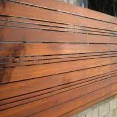 Awesome slatted fence!