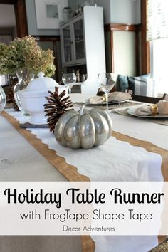 DIY Holiday Table Ru