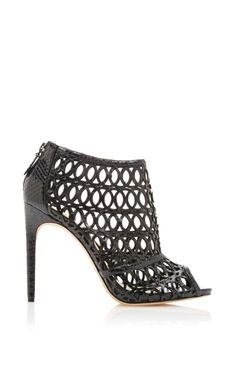 Cut-Out Python Cage Sandals by Alexandre Birman Now Available on Moda Operandi