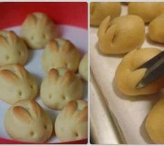 How to bake culinary school food art Bunny Bread Rolls step by step DIY tutorial instructions / How To Instructions on imgfave Easter Recipes, Holiday Recipes, Easter Ideas, Bunny Rolls, Bunny Bread, Bread Recipes, Cooking Recipes, Pastries Recipes, Dinner Rolls Recipe