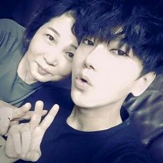 Yesung with mom