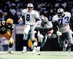 Emmitt Smith & Troy Aikman Dallas Cowboys NFL Hand Signed 16x20 Photograph Hand Off vs Green Bay Packers    Only $538.95  2 autographs from 2 football legends! Houston - TX / Sports Memorabilia online store. If you don't see what you are looking for shoot me an email - GoHardPro2@gmail.com