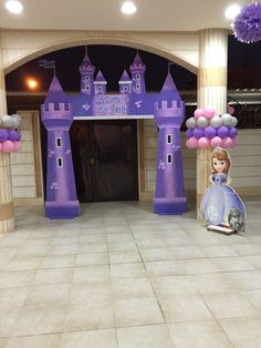 Outdoor kids party Sofia the first