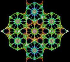 """String art """"Cosmic Lotus"""""""