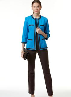 B6579 | Misses' Jacket Sewing Pattern | Butterick Patterns