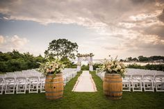 Sophia + Justin's outdoor wedding ceremony at Harbor Lights in Warwick, RI is oh.so.pretty.