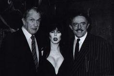 Vincent Price, Elvira and John Astin