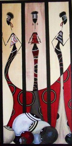 Black Women Art, Black Art, Worli Painting, Tableaux Vivants, Afrique Art, African Art Paintings, African Theme, Art Africain, Afro Art
