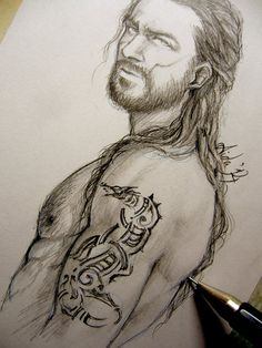 Vikings - The Damaged Brother - Sketch by Lehanan.deviantart.com on @deviantART