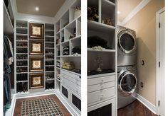 Washer and dryer!  Susan Hopkins Interior Design