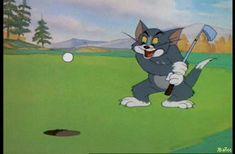 Tom, que lindo te queda el ojo - Imágenes Gif de Tom y Jerry