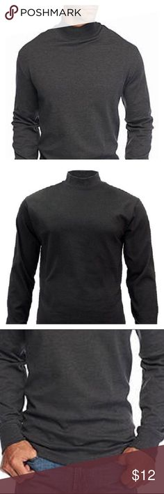 Men's mock turtleneck On the right man this style top is very sexy. In great shape. No rips or stains. saddlebred Shirts Tees - Long Sleeve