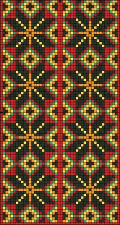 Seed Bead Patterns, Peyote Patterns, Beading Patterns, Cross Stitch Borders, Cross Stitch Patterns, Beaded Embroidery, Embroidery Stitches, Tapestry Crochet Patterns, Pixel Pattern