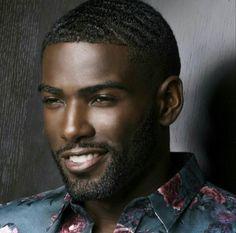 His smile alone will make you fall in love! Fine Black Men, Gorgeous Black Men, Hot Black Guys, Beautiful Men Faces, Handsome Black Men, Handsome Faces, Black Boys, Fine Men, Black Man