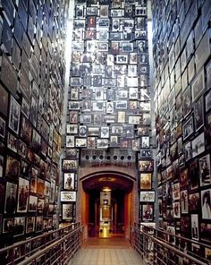 Holocaust Museum, Washington D.C. the room was full of pictures of those who died. Very moving.