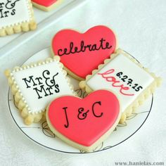 Wedding cookies https://cookiecutter.com/square-fluted-cookie-cutters-set.htm