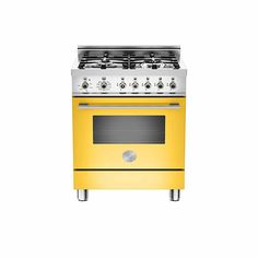 A vibrant burst of colour in a mini range cooker by Italian manufacturer, Bertazzoni. http://www.kitchensourcebook.co.uk/2015/04/10/the-perfect-fit/